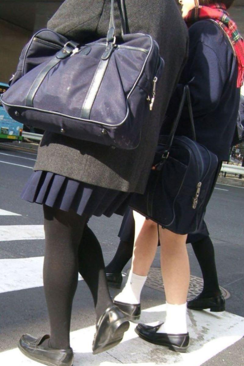 黒タイツ 黒パンスト JK画像 47