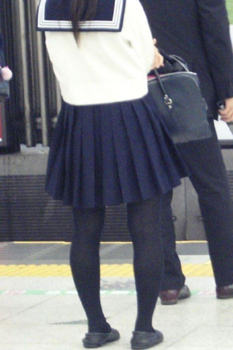 黒タイツ 黒パンスト JK画像 49