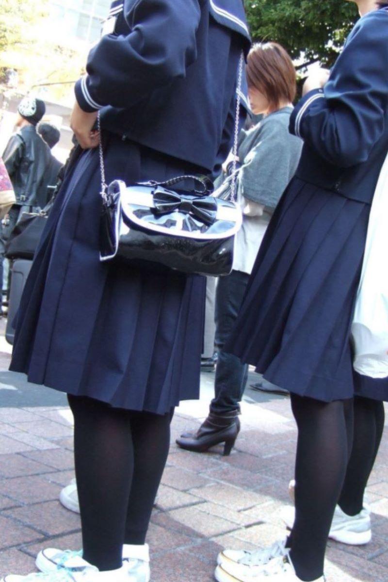 黒タイツ 黒パンスト JK画像 50