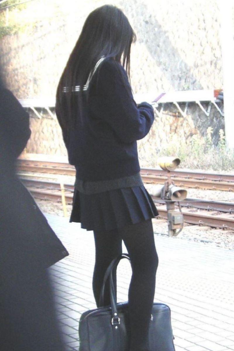黒タイツ 黒パンスト JK画像 65