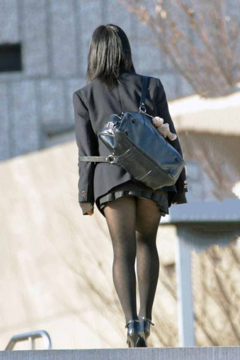 黒タイツ 黒パンスト JK画像 81