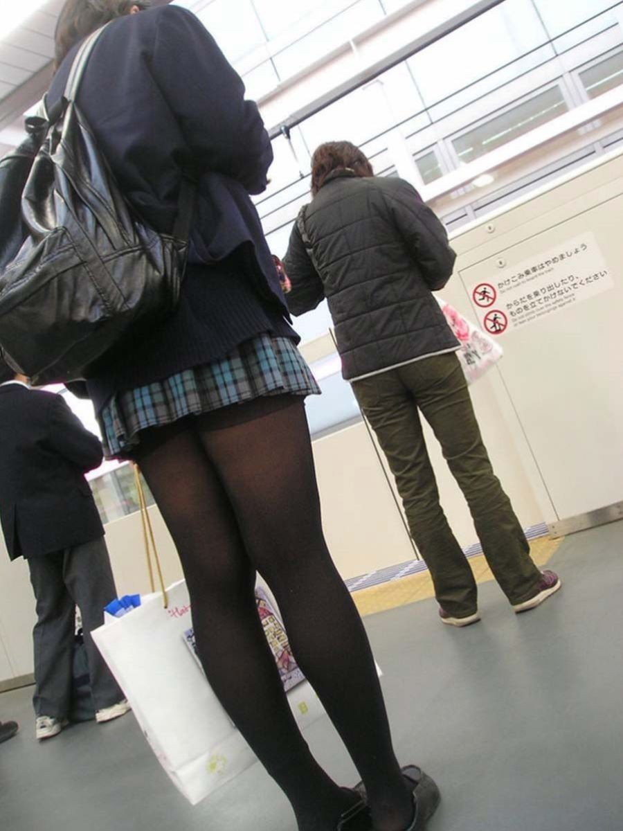 黒タイツ 黒パンスト JK画像 89