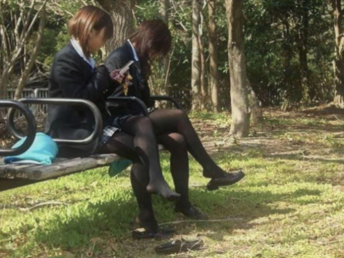 黒タイツ 黒パンスト JK画像 95