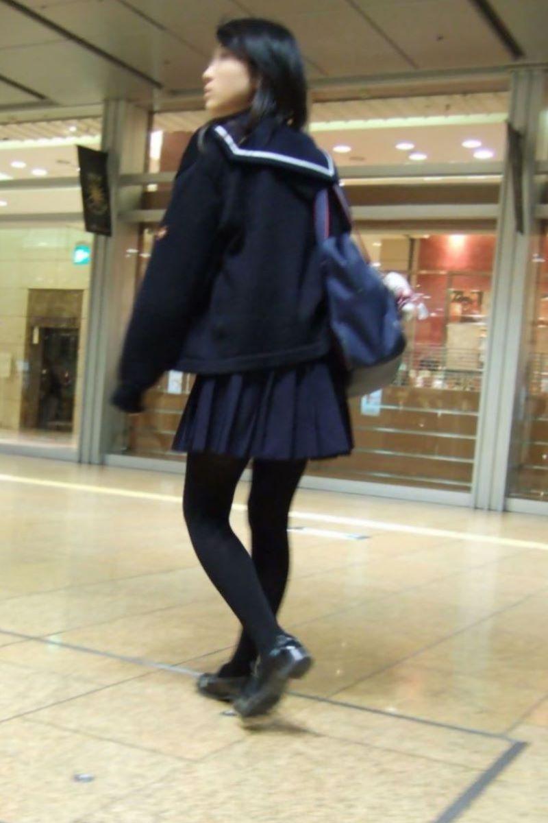 黒タイツ 黒パンスト JK画像 104