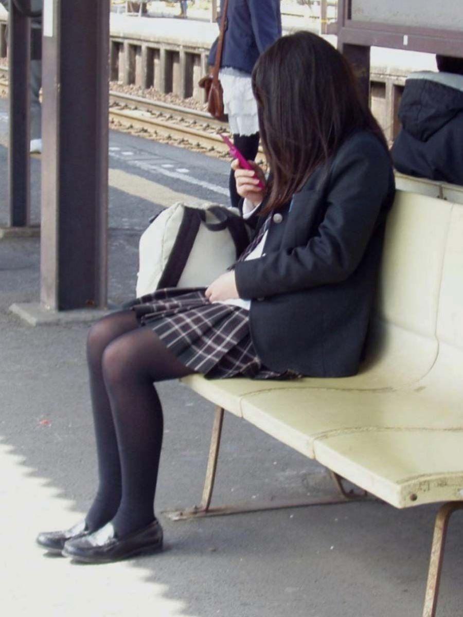 黒タイツ 黒パンスト JK画像 106