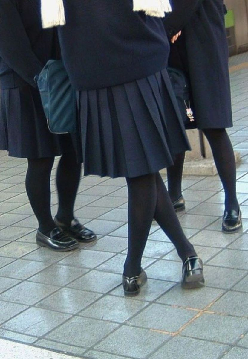 黒タイツ 黒パンスト JK画像 111