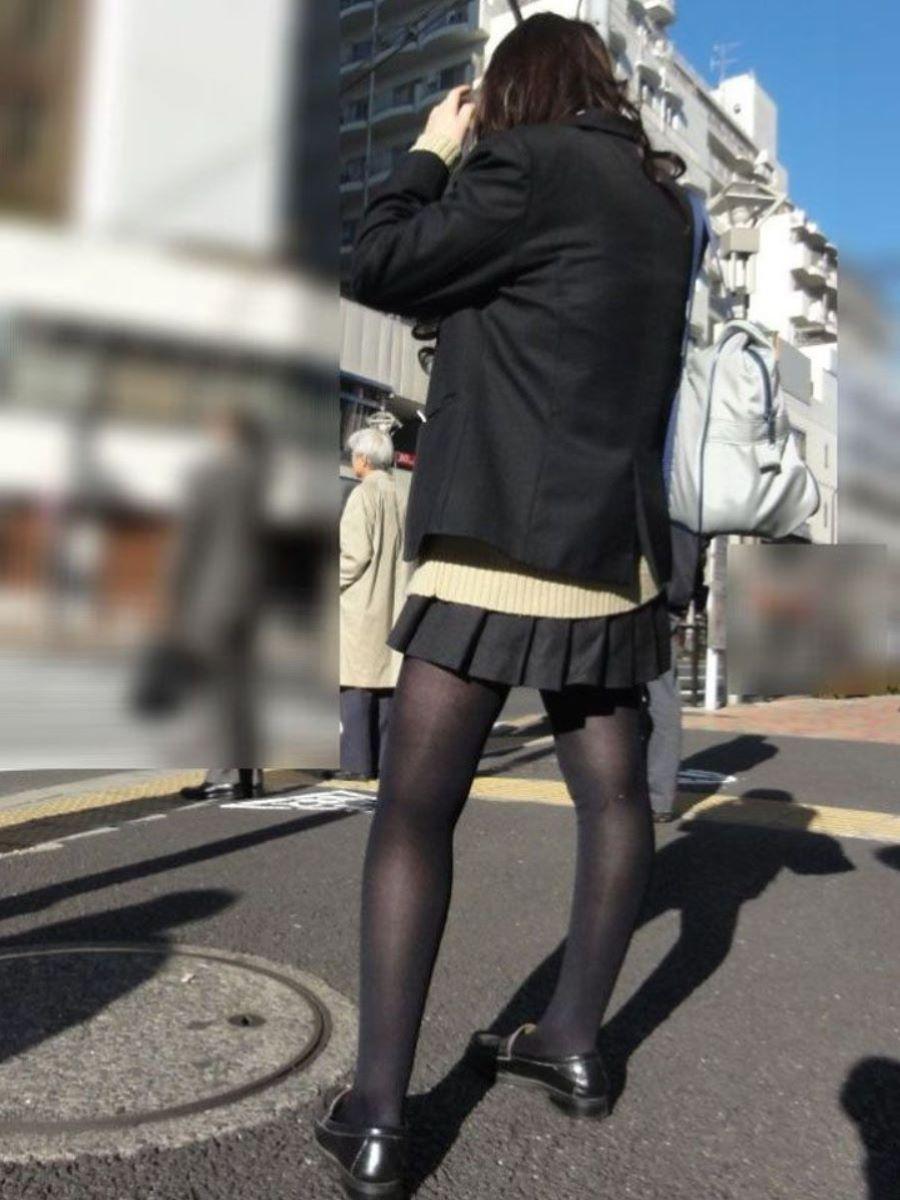 黒タイツ 黒パンスト JK画像 113