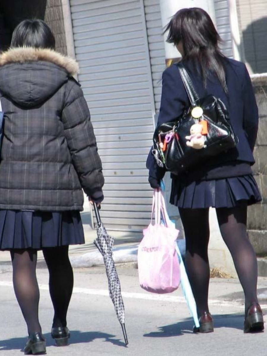 黒タイツ 黒パンスト JK画像 123