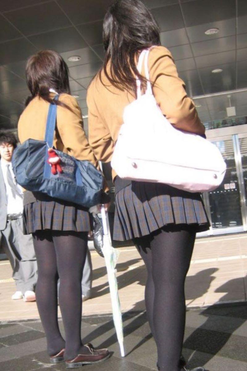 黒タイツ 黒パンスト JK画像 126