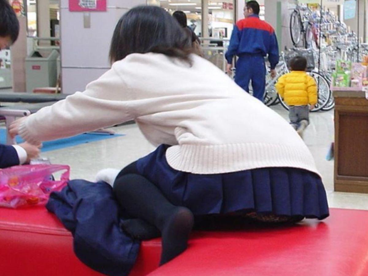 黒タイツ 黒パンスト JK画像 128
