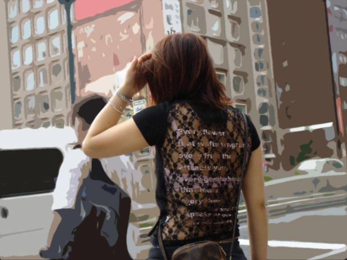 熟女 透けブラ 画像 119