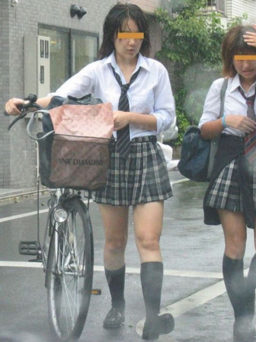 自転車通学 ミニスカ JK画像 23