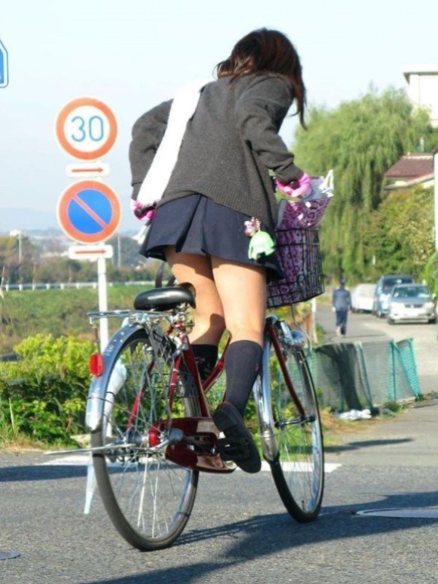 自転車通学 ミニスカ JK画像 30
