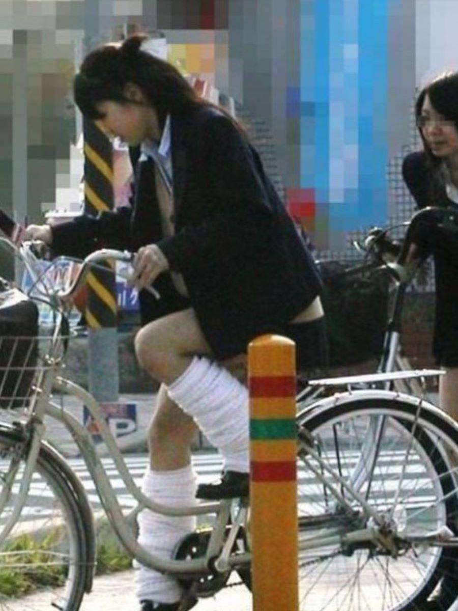 自転車通学 ミニスカ JK画像 33
