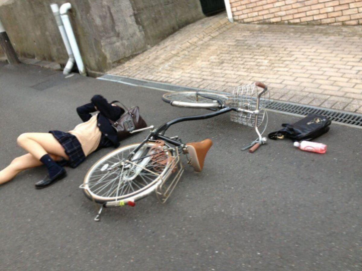 自転車通学 ミニスカ JK画像 34