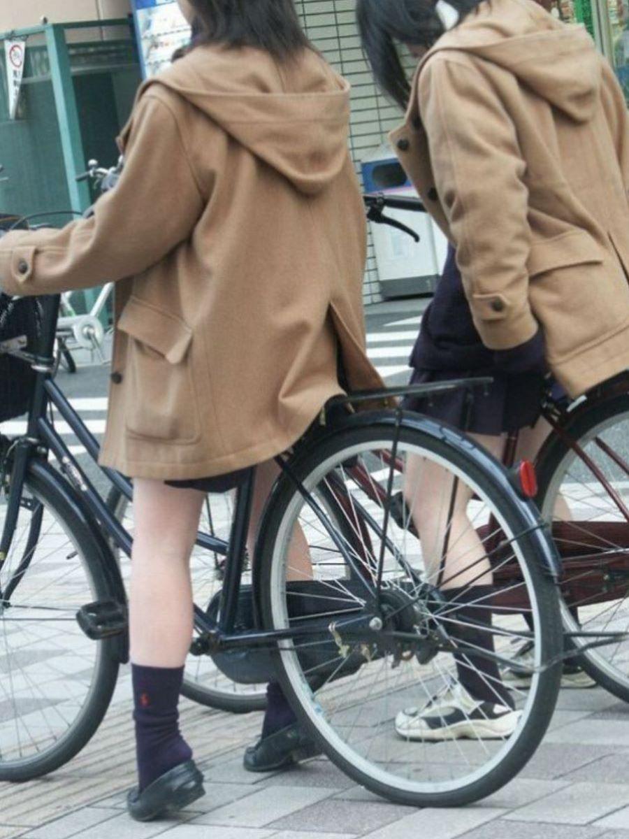 自転車通学 ミニスカ JK画像 36