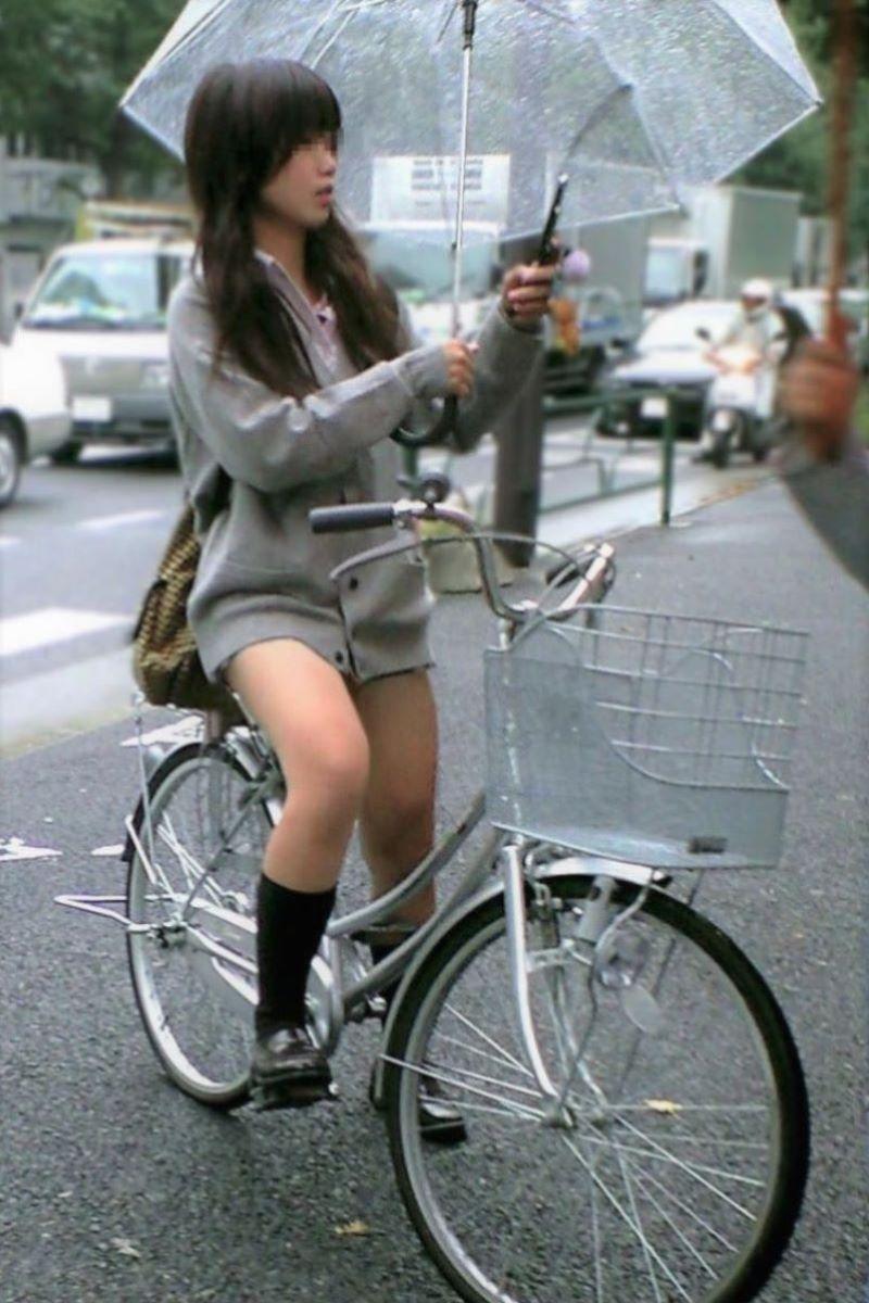 自転車通学 ミニスカ JK画像 43