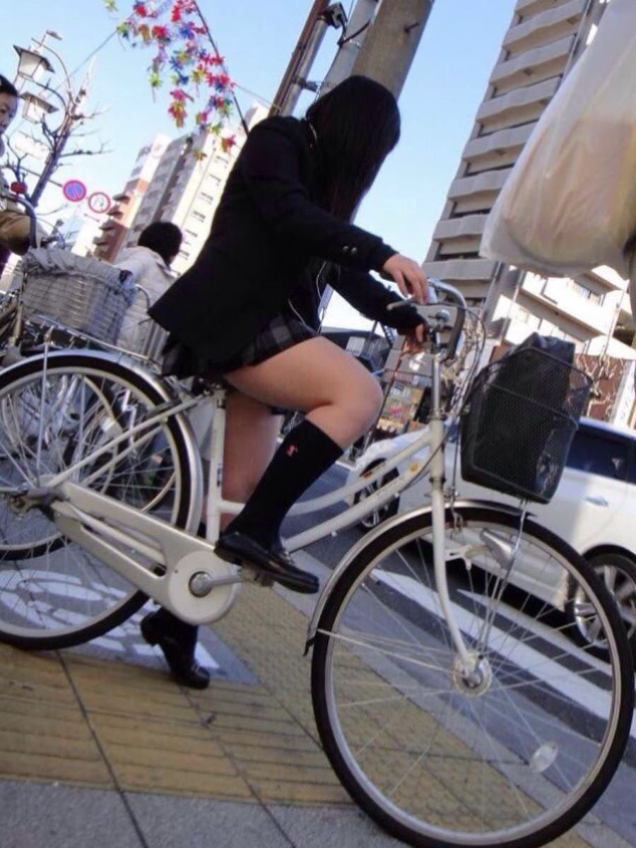 自転車通学 ミニスカ JK画像 57