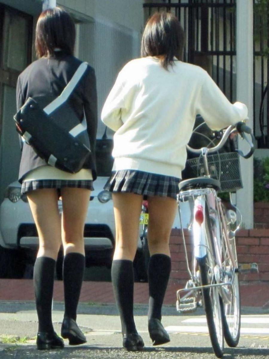 自転車通学 ミニスカ JK画像 58