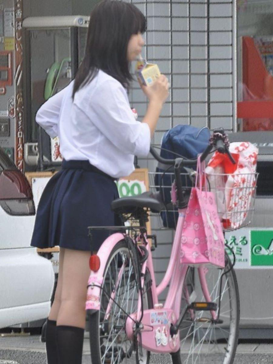 自転車通学 ミニスカ JK画像 61