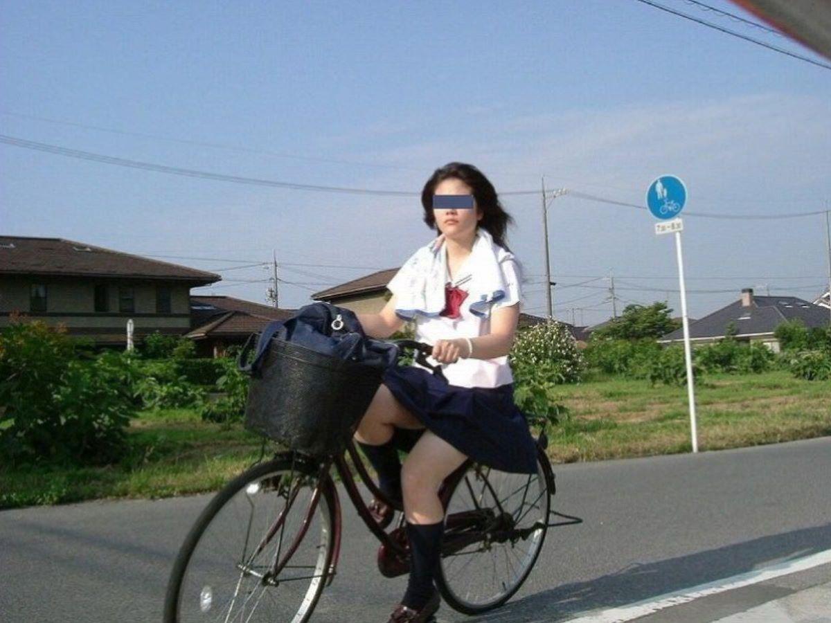 自転車通学 ミニスカ JK画像 62