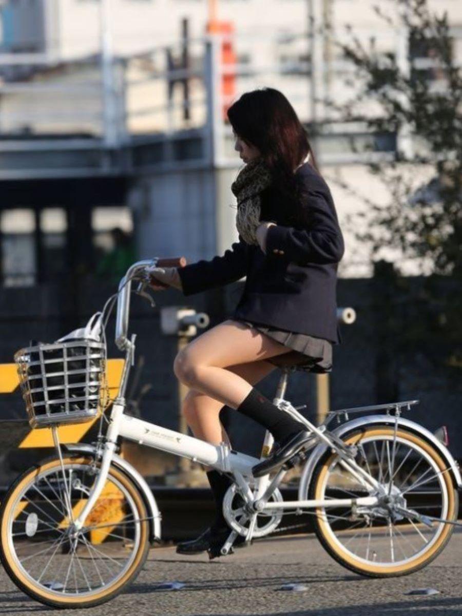 自転車通学 ミニスカ JK画像 63