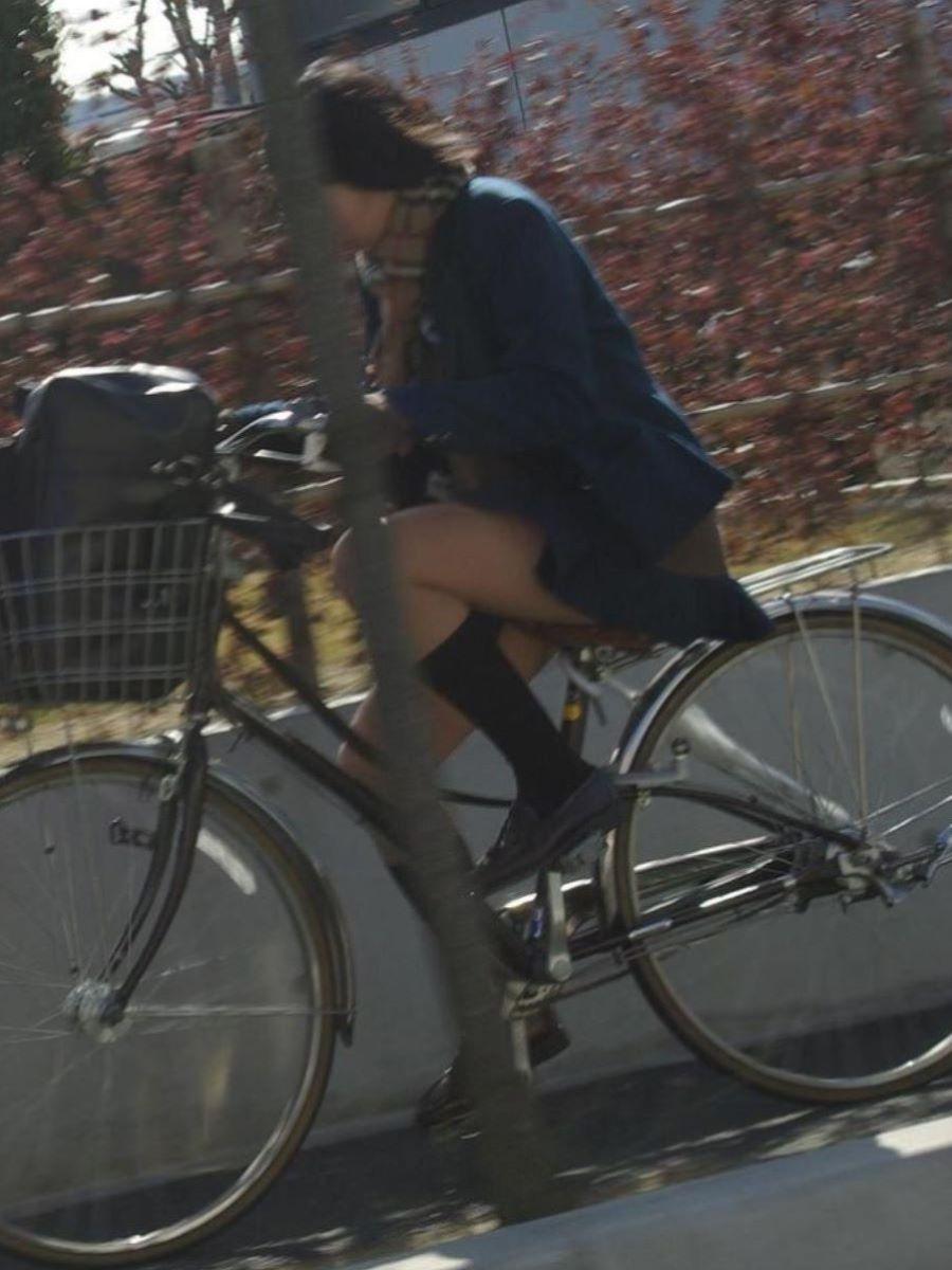 自転車通学 ミニスカ JK画像 67
