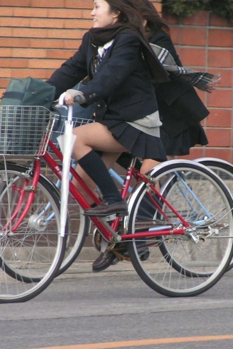 自転車通学 ミニスカ JK画像 68