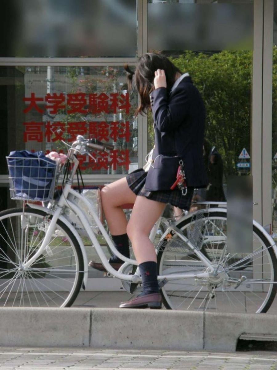 自転車通学 ミニスカ JK画像 74