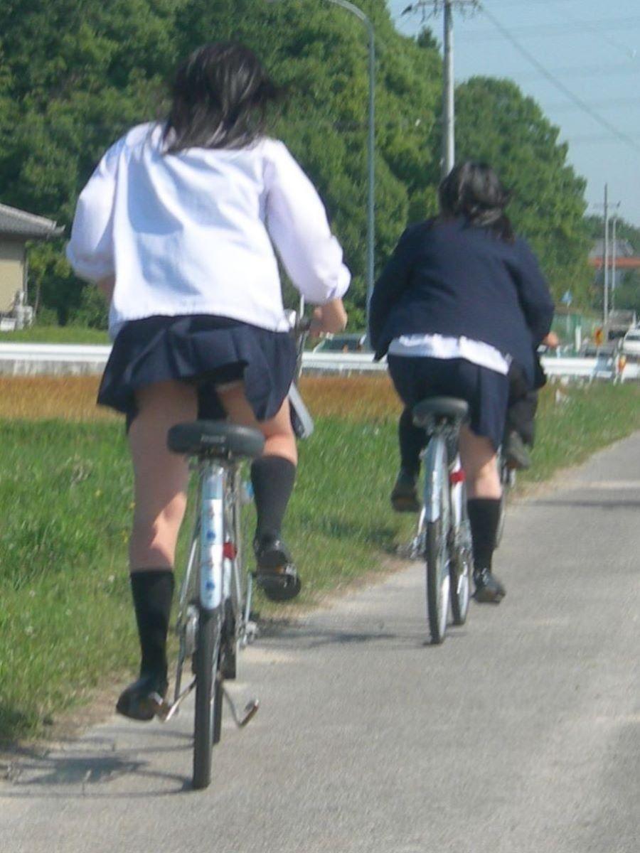 自転車通学 ミニスカ JK画像 77