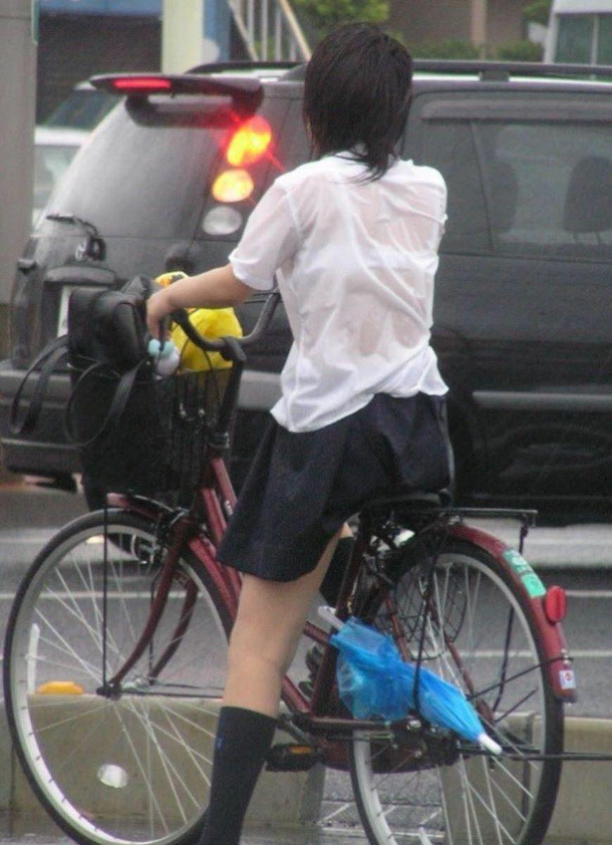 自転車通学 ミニスカ JK画像 81