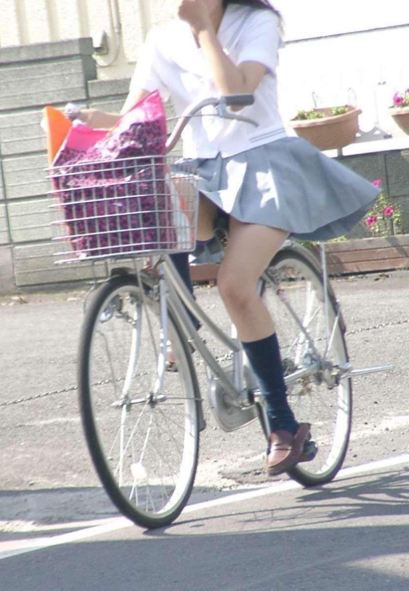自転車通学 ミニスカ JK画像 83