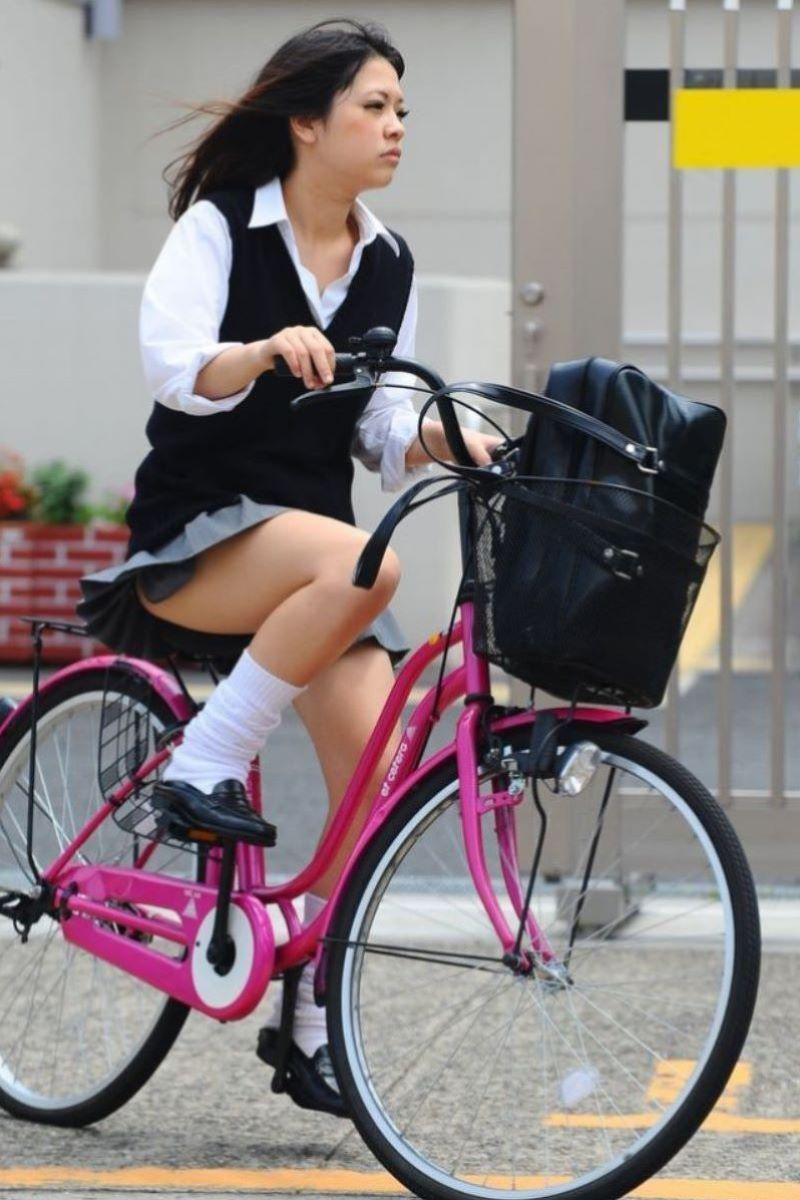 自転車通学 ミニスカ JK画像 84