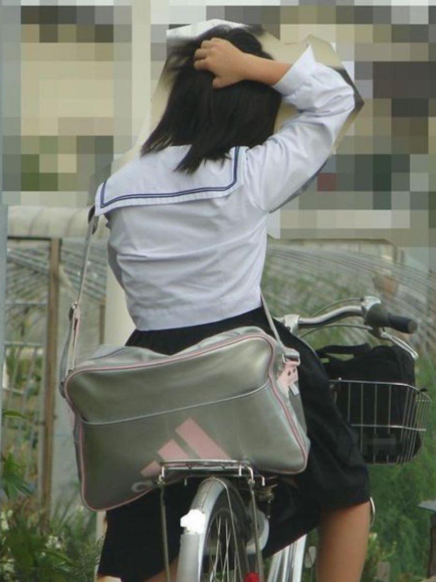 自転車通学 ミニスカ JK画像 85