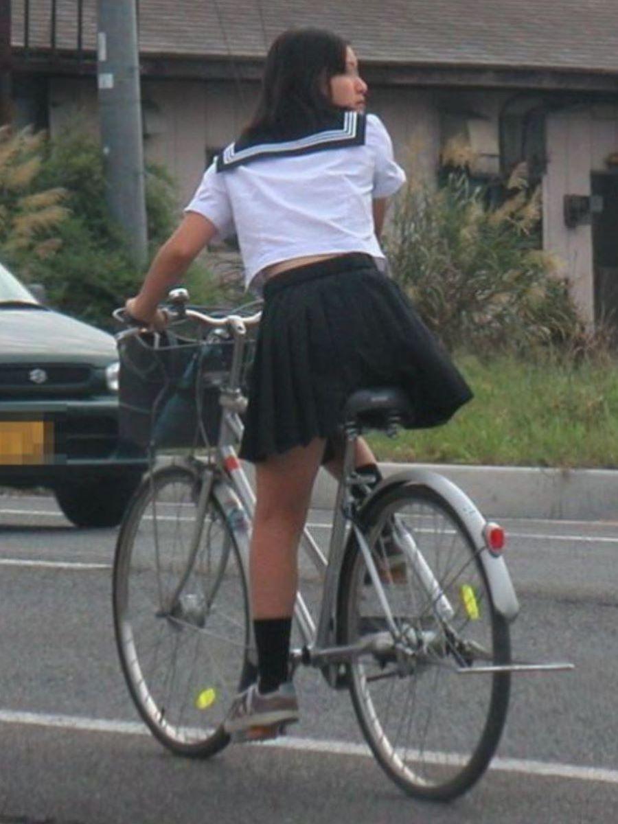自転車通学 ミニスカ JK画像 86