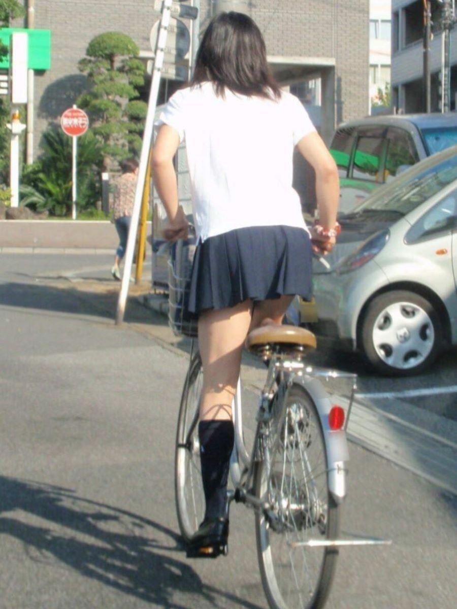 自転車通学 ミニスカ JK画像 87