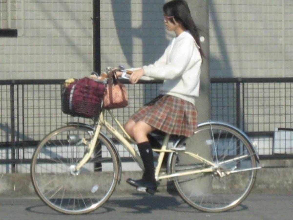 自転車通学 ミニスカ JK画像 91