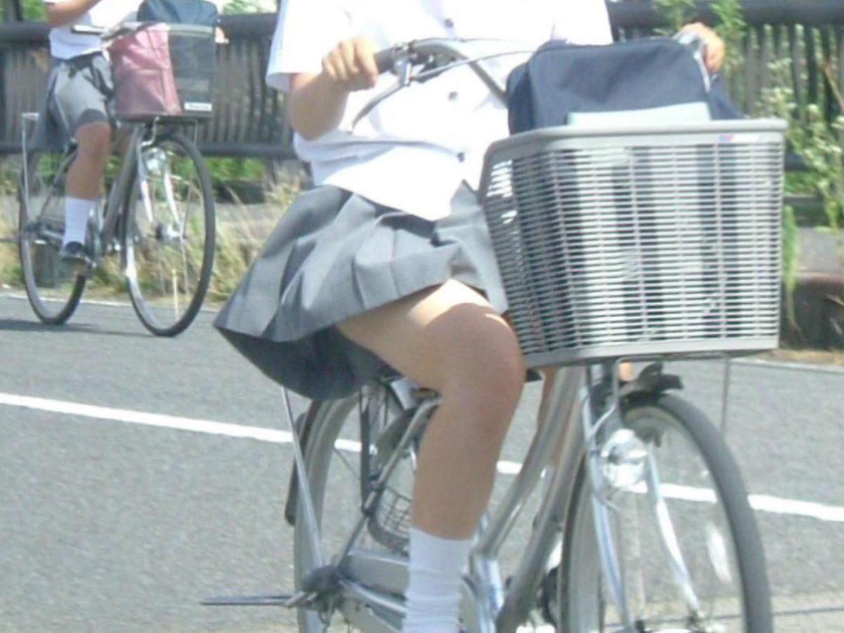 自転車通学 ミニスカ JK画像 93