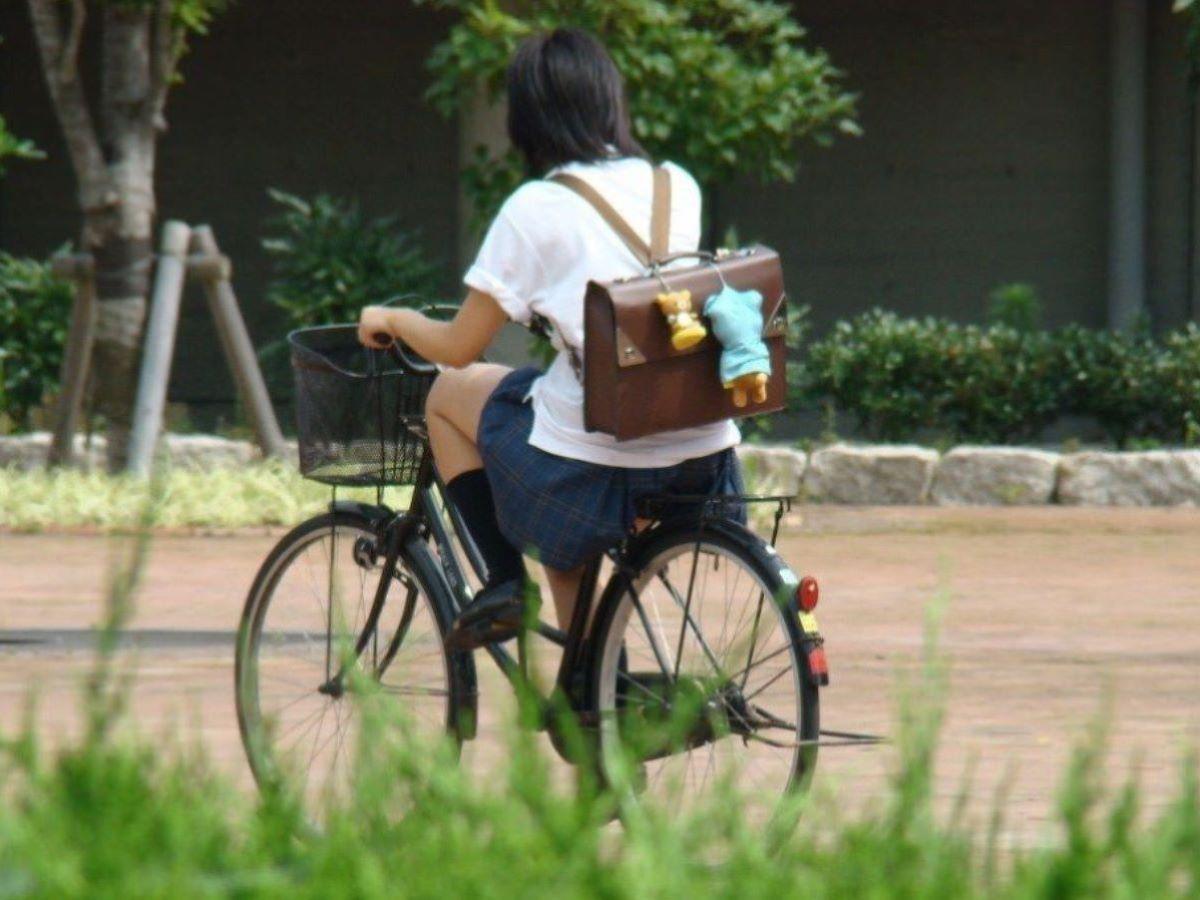 自転車通学 ミニスカ JK画像 94
