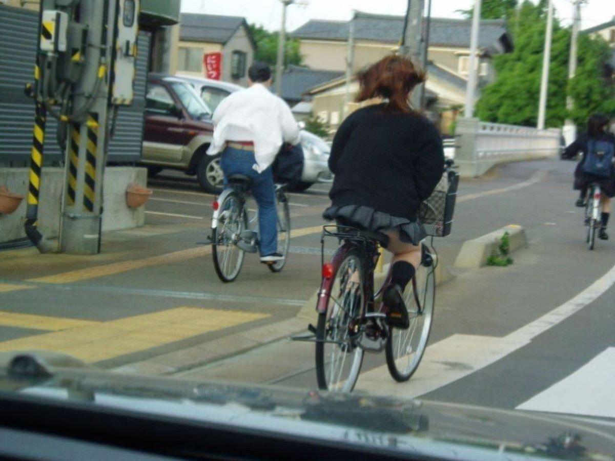 自転車通学 ミニスカ JK画像 97