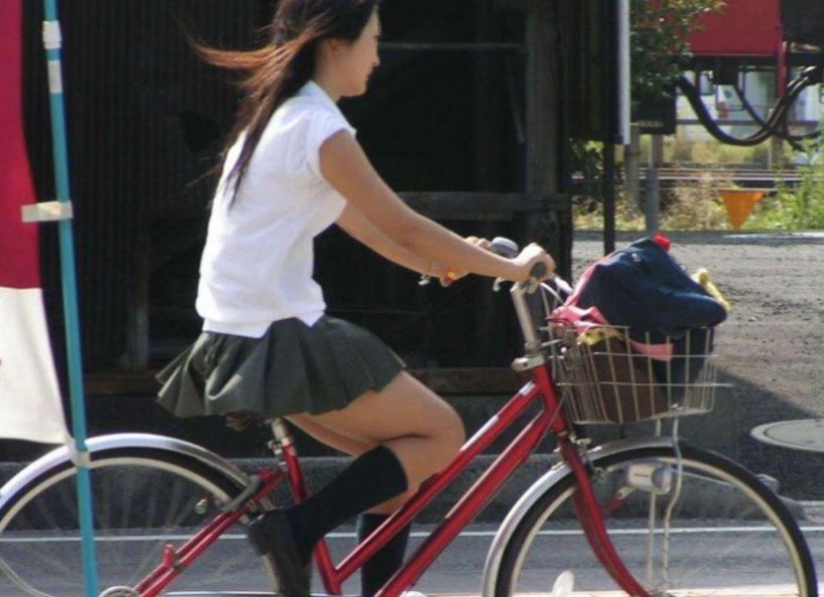 自転車通学 ミニスカ JK画像 98
