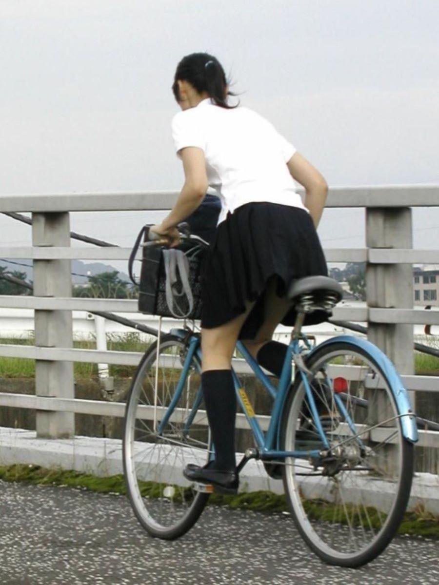 自転車通学 ミニスカ JK画像 99