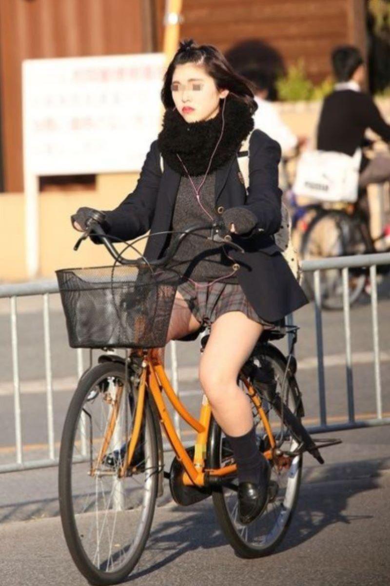 自転車通学 ミニスカ JK画像 100