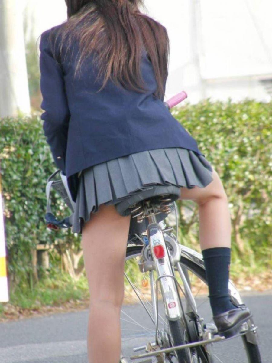 自転車通学 ミニスカ JK画像 103