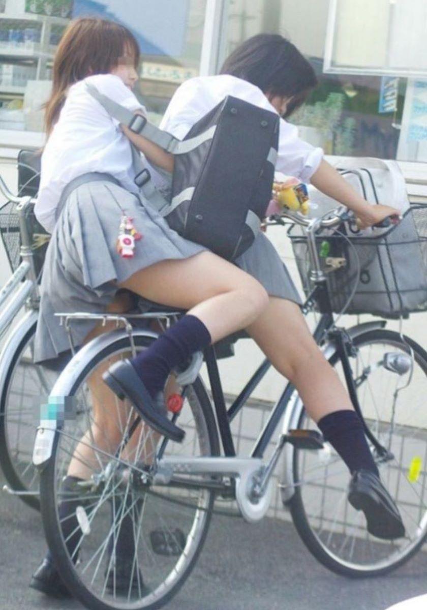 自転車通学 ミニスカ JK画像 104