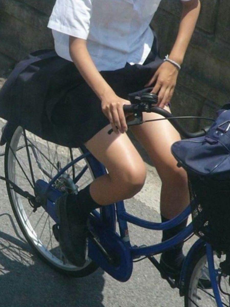 自転車通学 ミニスカ JK画像 105