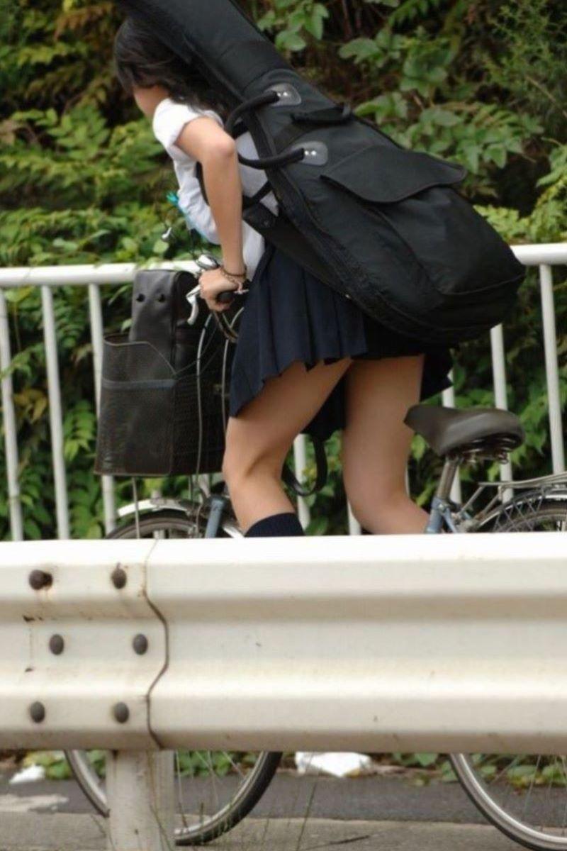 自転車通学 ミニスカ JK画像 112