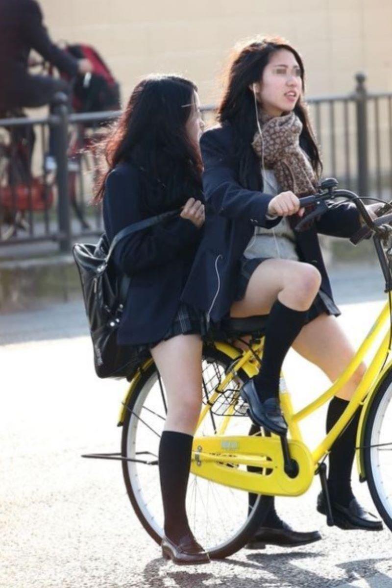 自転車通学 ミニスカ JK画像 113