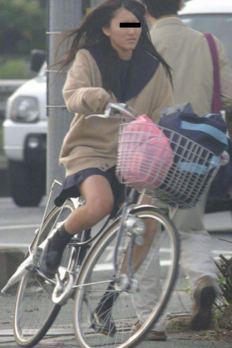 自転車通学 ミニスカ JK画像 114
