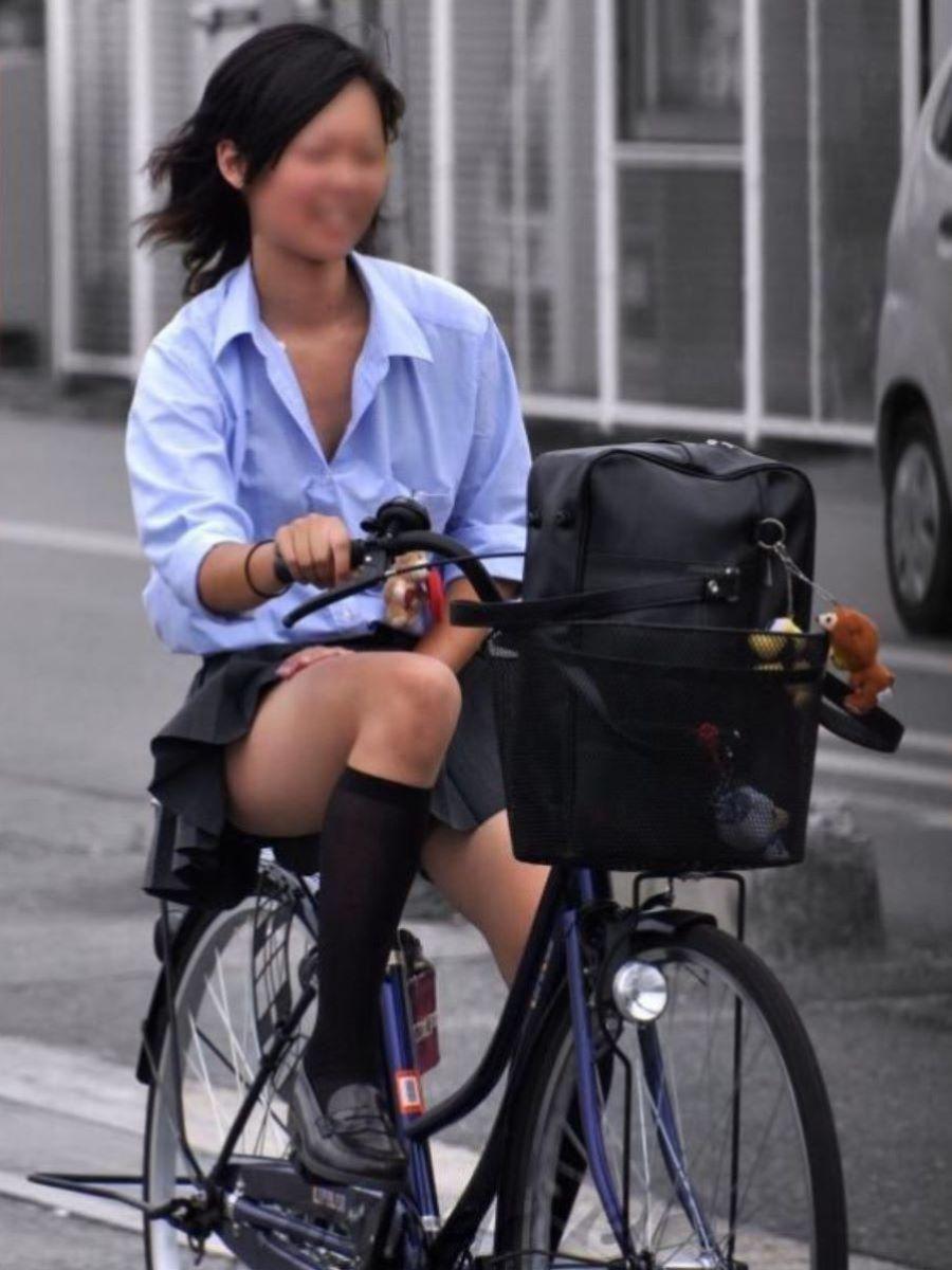 自転車通学 ミニスカ JK画像 120